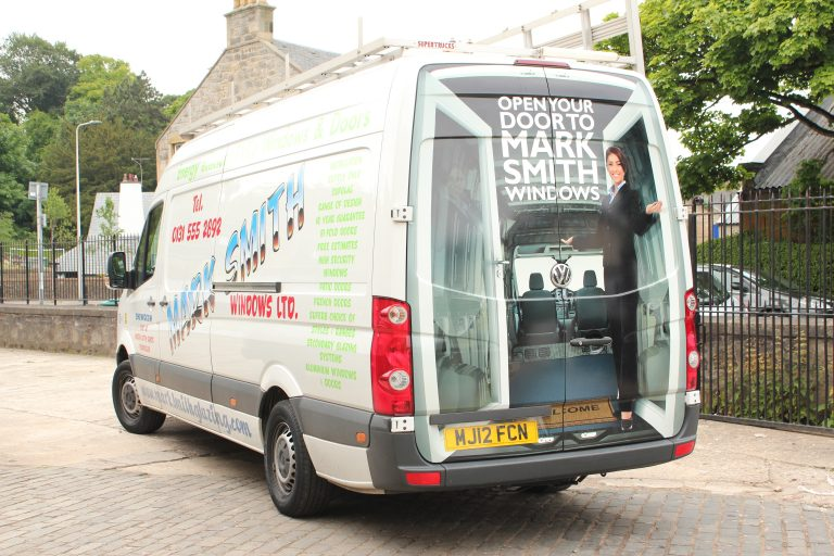 van - Mark Smith Glazing Edinburgh