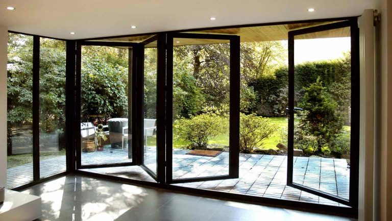 glass bi-folding doors - Mark Smith Glazing Edinburgh
