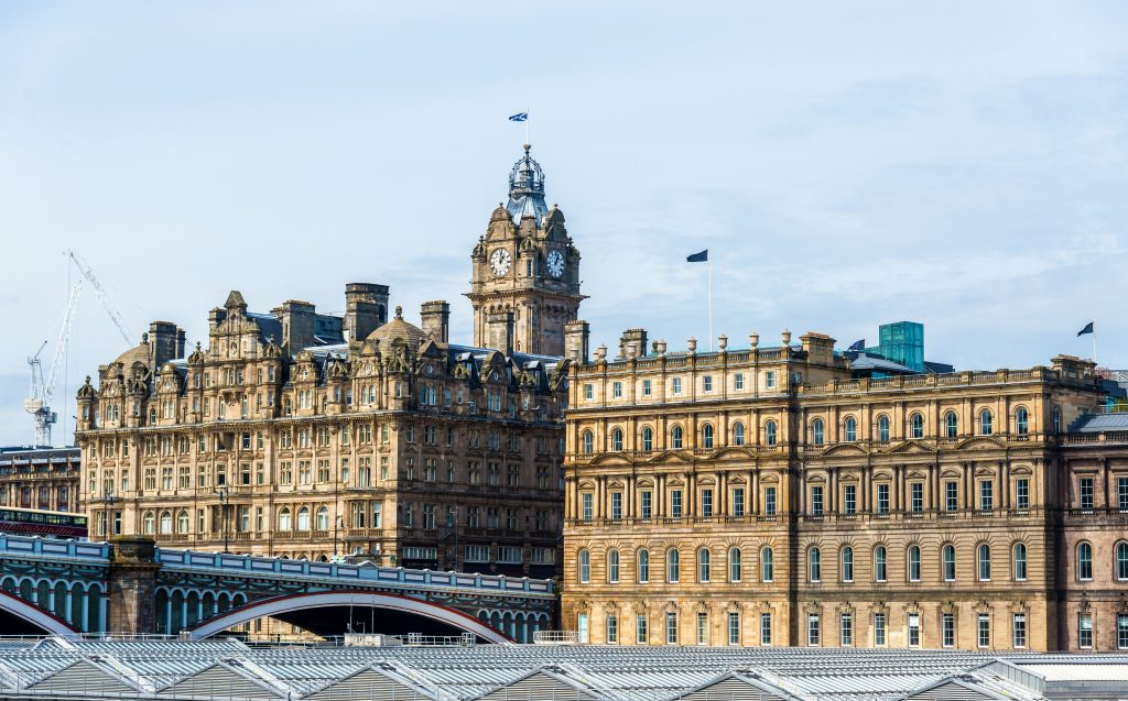 Historic buildings in the city centre of Edinburgh - ScotlandMark Smith Glazing Edinburgh